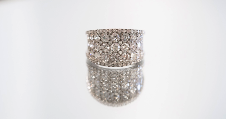 Large Custom Diamond Ring