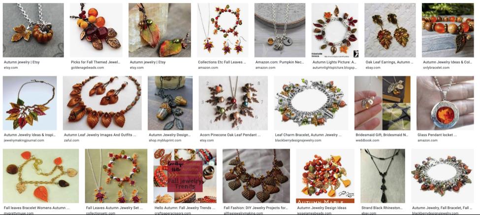 Fall-themed custom jewelry