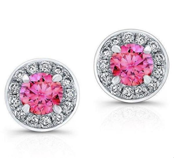New Modern Pink Diamond earrings