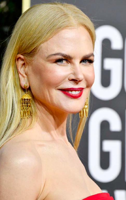 Nicole Kidman with custom gold earrings