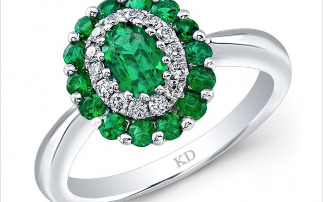 Emerald and diamond ring from new Spring Styles