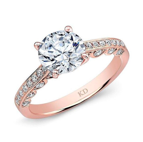 Engagement Ring with Rose Gold