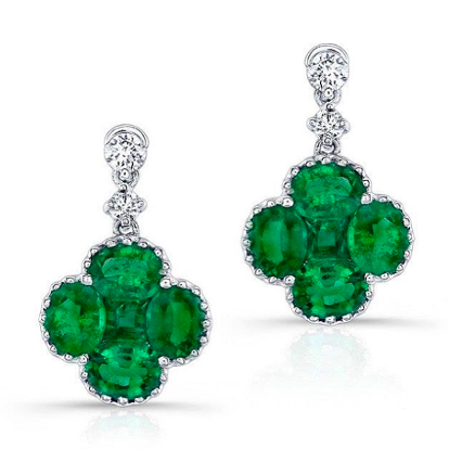 Emerald earrings from fine jewelry sale this summer