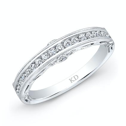 single wedding band with diamonds
