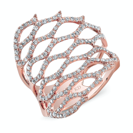 Fancy contemporary rose gold ring in frisco