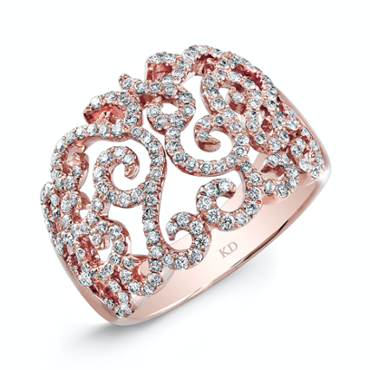 Rose gold swirly ring