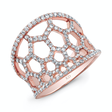 Contemporary rose gold engagement ring